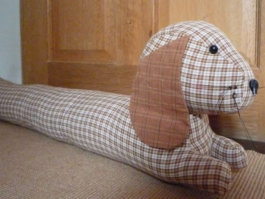 Get handy, make a sausage dog draught excluder
