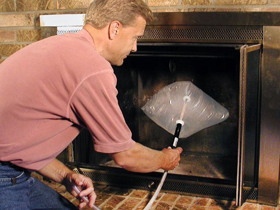 Stop heat loss up the chimney