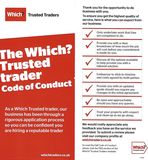 Which? Trusted Trader Code of Conduct