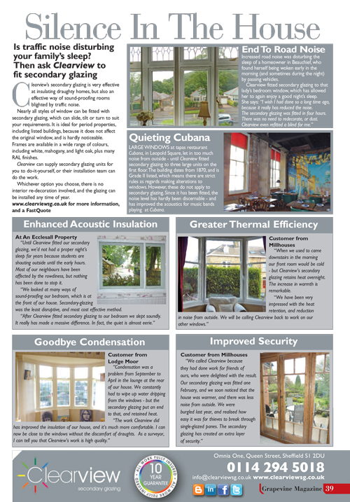 Sheffield-Grapevine-Magazine-Clearview Secondary Glazing