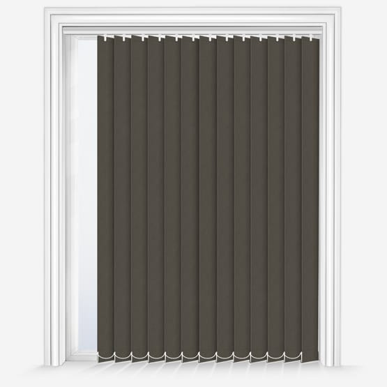 GB Fusion Blackout Dark Grey Vertical Blinds