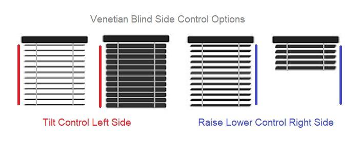 Venetain Blind Side Control Options.