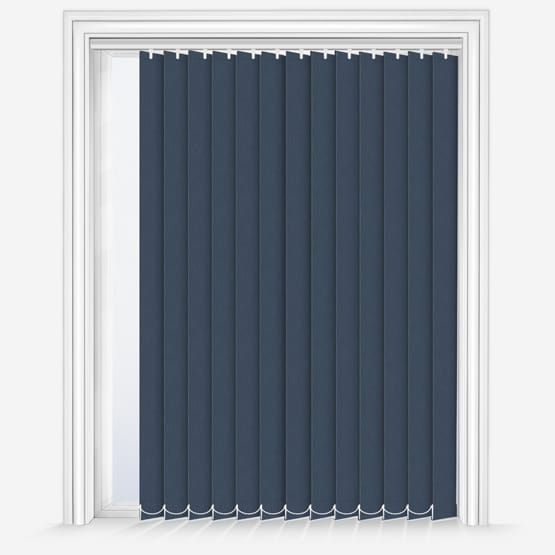 10. Fusion Navy Vertical Blinds
