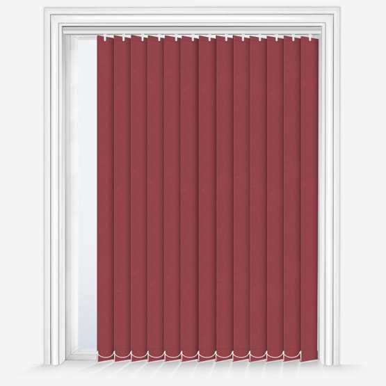 11. Fusion Carmine Vertical Blinds