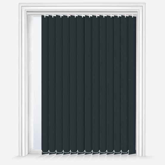 7. Fusion Black Vertical Blinds