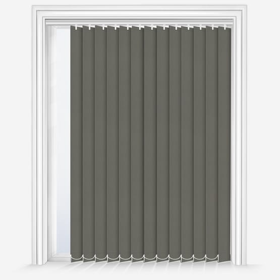 8. Fuison Taupe Vertical Blinds